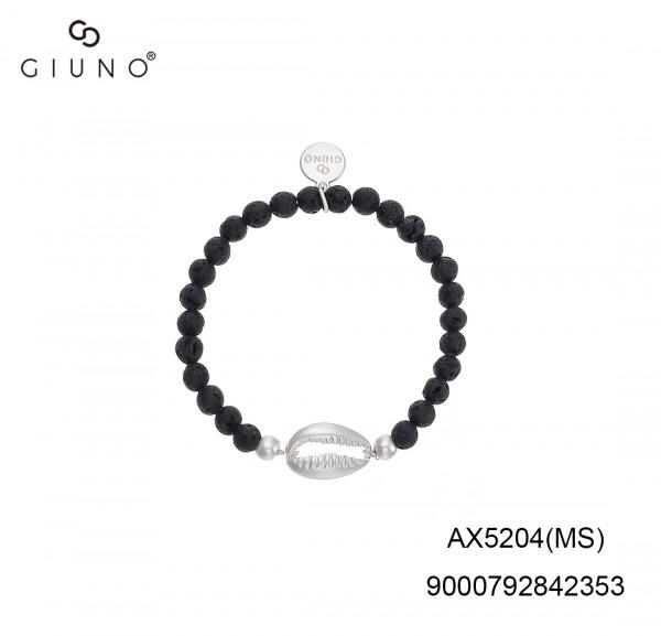 Lavastein Armband Schwarz