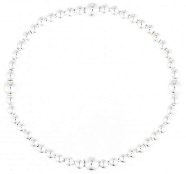 Elastischer Kugelarmband Silber
