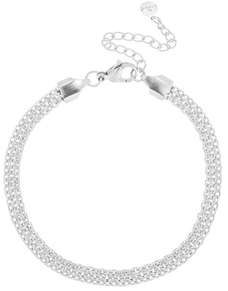 Geflocheter Armband Aus Edelstahl In Silber