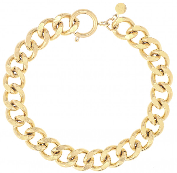 Dicker Gliederarmband Aus Edelstahl In Gold