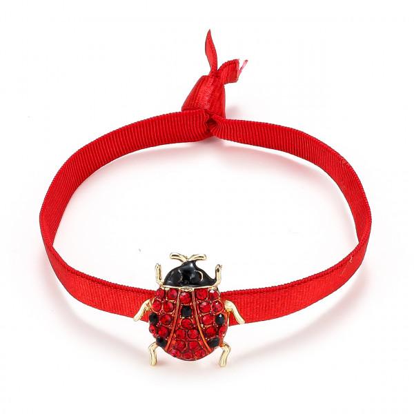Elatischer Armband Rot Mit Käfer