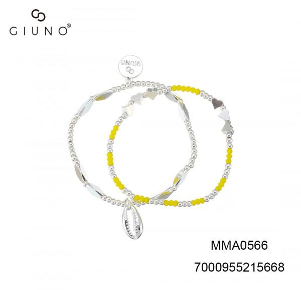 Metallarmband Gelb / Silber Zweier