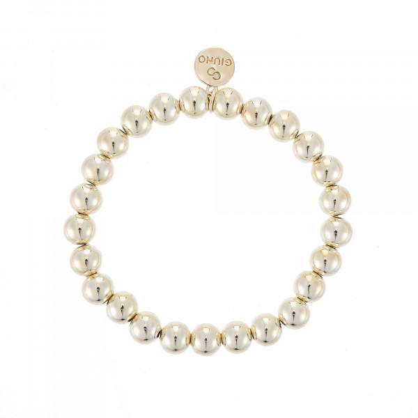 Großen Perlenarmband Mit Gummizug In Gold