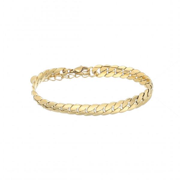 Edelstahlarmband In Römischem Style In Gold