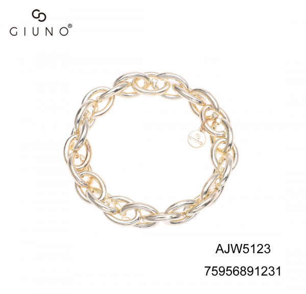 Gliederarmband aus Metall in Gold