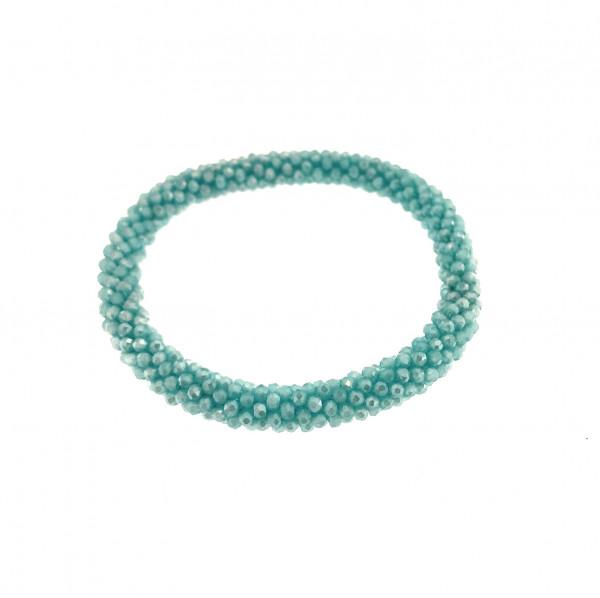 Fein Geflochtete Kristall Armband In Blau Ton