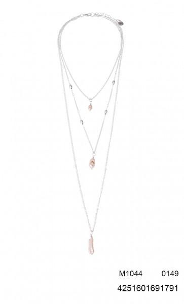 Dreierkette Mit Perlen In Silber