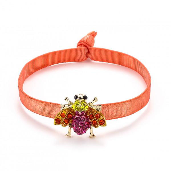 Elatischer Armband Orange Mit Biene