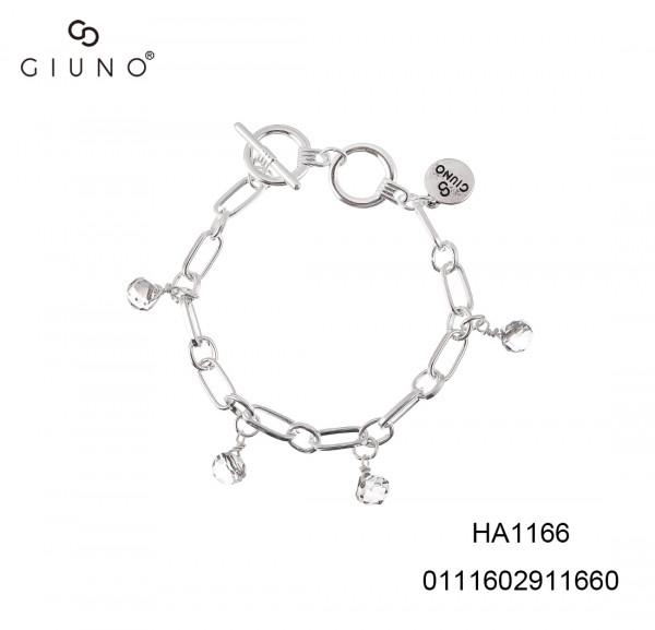 Metallarmband Siber Mit Glasanhänger Silber