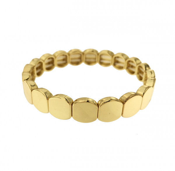 GLIEDERARMBAND OVAL AUS METALL IN GOLD