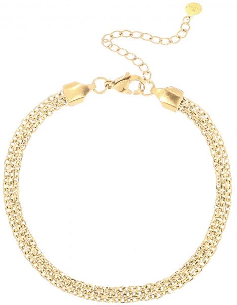 Geflocheter Armband Aus Edelstahl In Gold