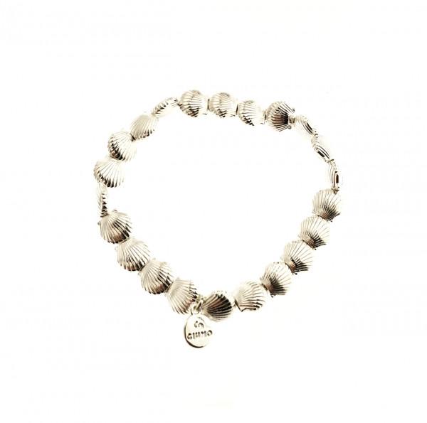 Metallmuscheln Armband Silber