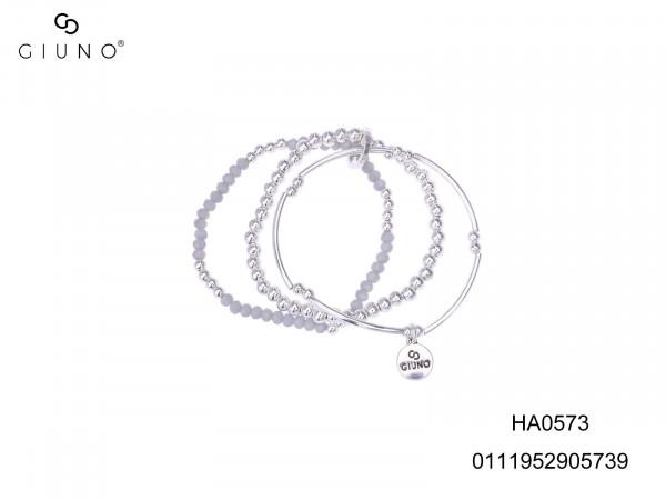 Armband Mit Metallperlen Silber Und Glaskristallen Blau