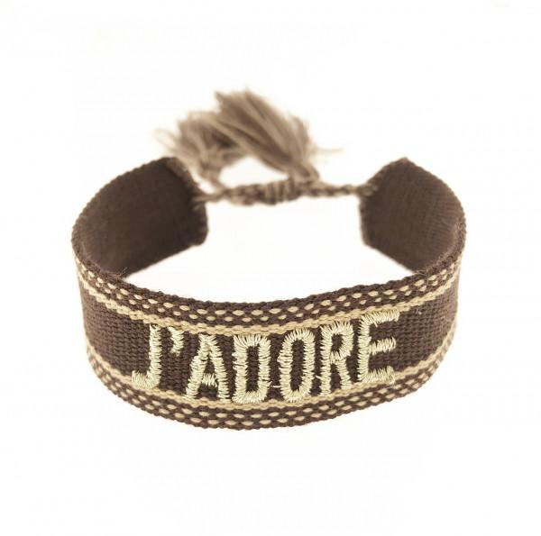 Adore Stoffarmband In Braun/Gold