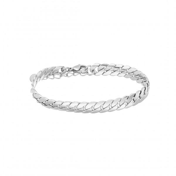 Edelstahlarmband In Römischem Style In Silber