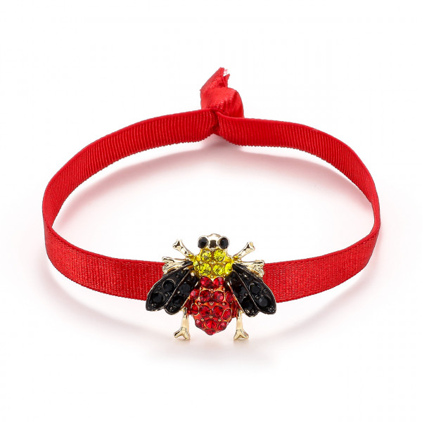 Elatischer Armband Rot Mit Biene