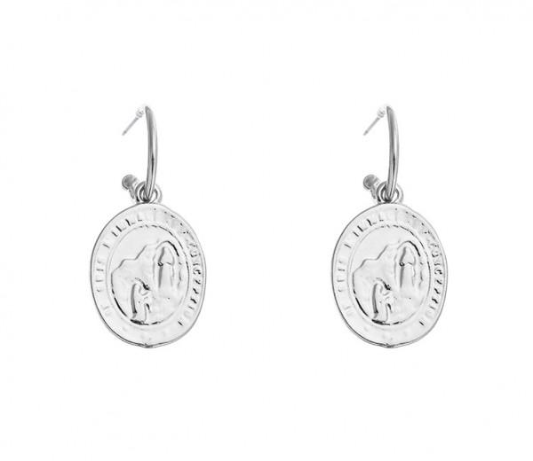 Ohrringe Mit Münzanhänger Silber