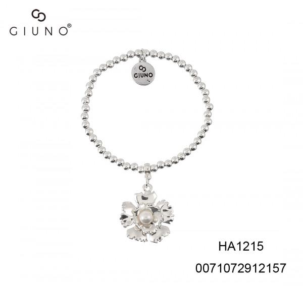 Armband Metall Mit Blumenanhang Silber