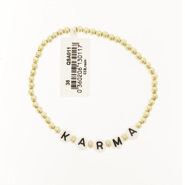 Perlenarmband Karma In Gold/Weiss