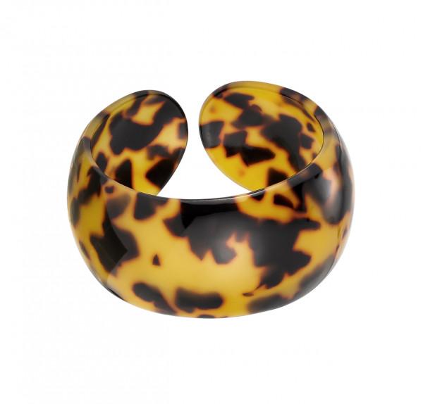 Armreif Aus Acryl In Leopard Gelb