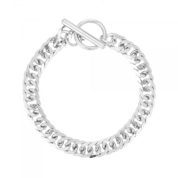 Gliederarmband In Silber Mit T-Steg-Verschluss