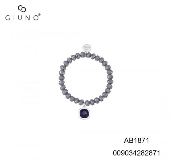 Armband Glaskristall Grau Mit Eckig Anhänger
