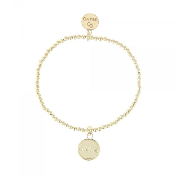 Kleine Perlenarmband Mit Anhänger In Gold
