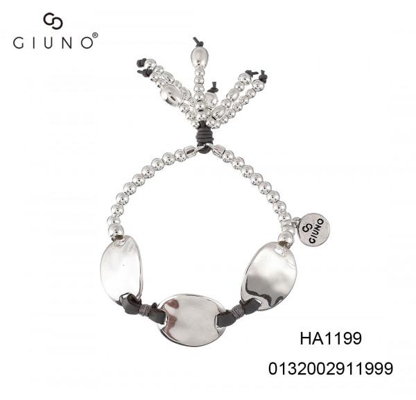 Metalperlen Armband Silber