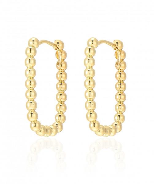 Viereckiger Ohrring Gold