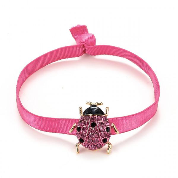 Elatischer Armband Pink Mit Käfer