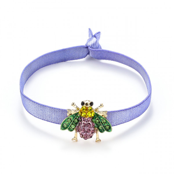Elatischer Armband Lila Mit Biene