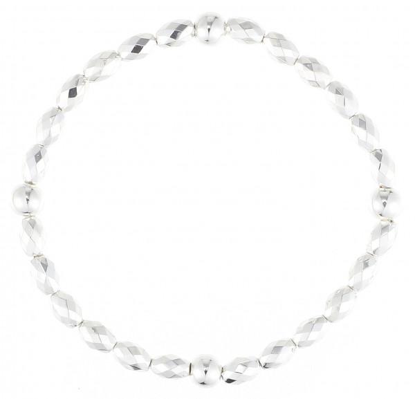 Elastischer Armband Silber