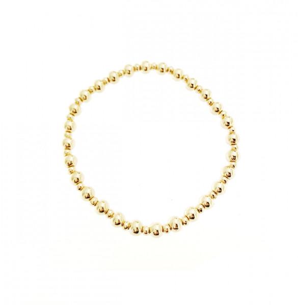Armband Aus Metallperlen In Gold Matt