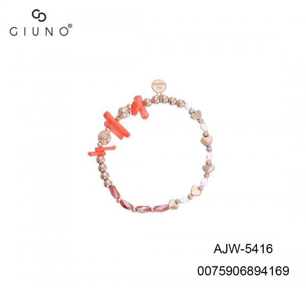 Kristallarmband Rosegold Mit Herzen Und Steine In Orange