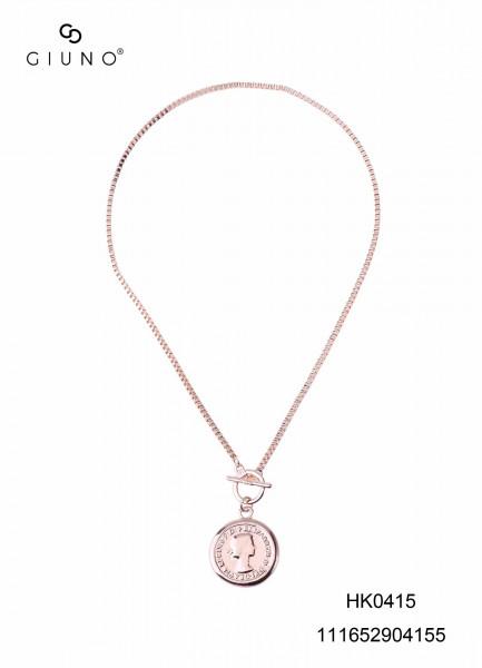 Metallkette rosè mit Münze
