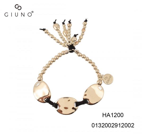 Metalperlen Armband Gold