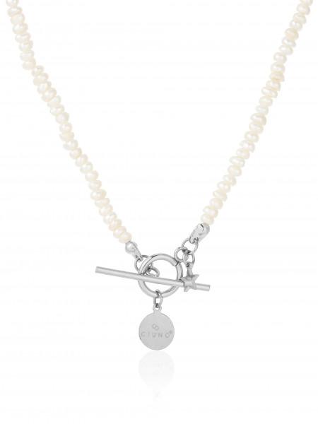 Feine Perlenkette Mit Edelstahlverschluss