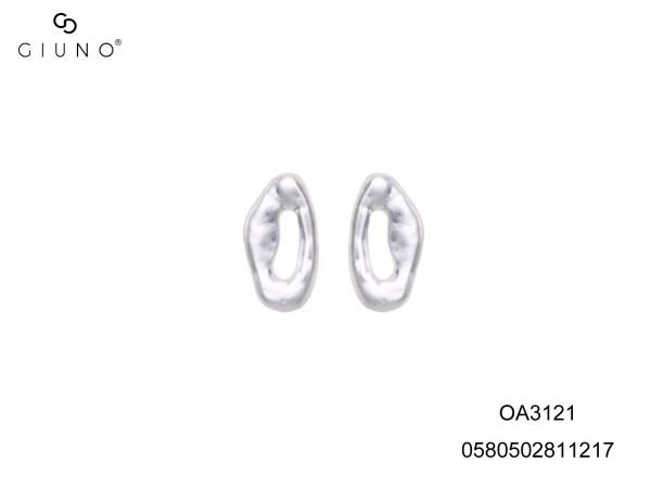 Ohrstecker Silber Mit Elipsenförmigen Kreis