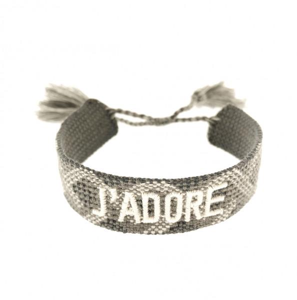 Adore Stoffarmband In Grau-Tone