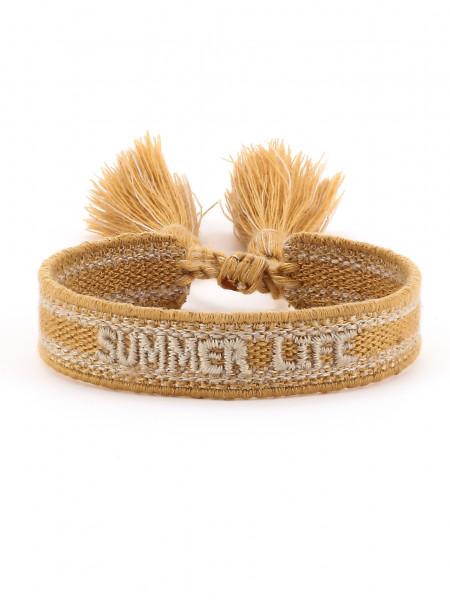 """Stoffarmband """"Summerlife"""" Camel"""