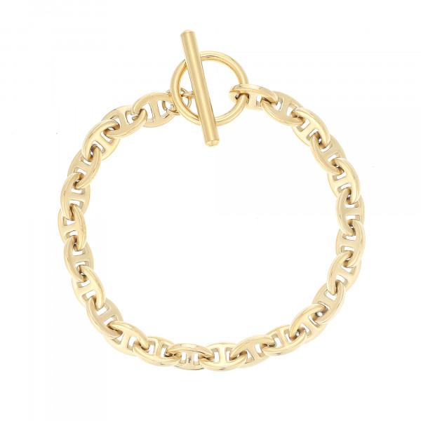 Theta-Gliederarmband Klein Mit T-Steg-Verschluss In Gold