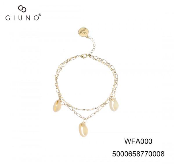 Zweier Kettenglieder Armband Mit Drei Muschelnanhänger Gold