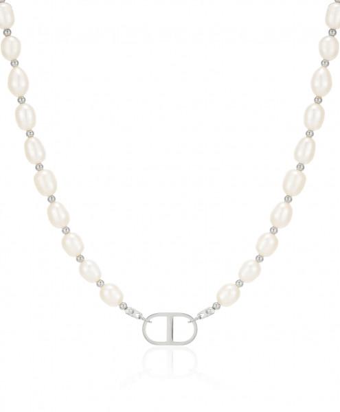 Perlenkette Mit Theta Edelstahl