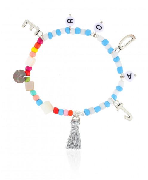 Elastisches Armband Mit Buchstaben-Anhänger