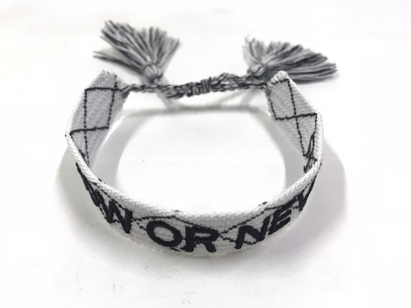 """Stoffarmband """"Now Or Never"""" In Ecru"""