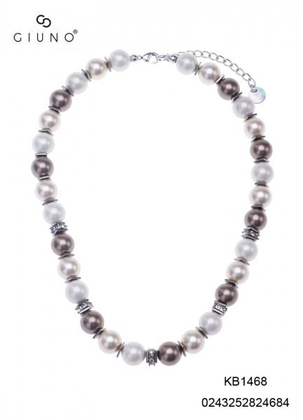 Perlenkette mit Kristallen