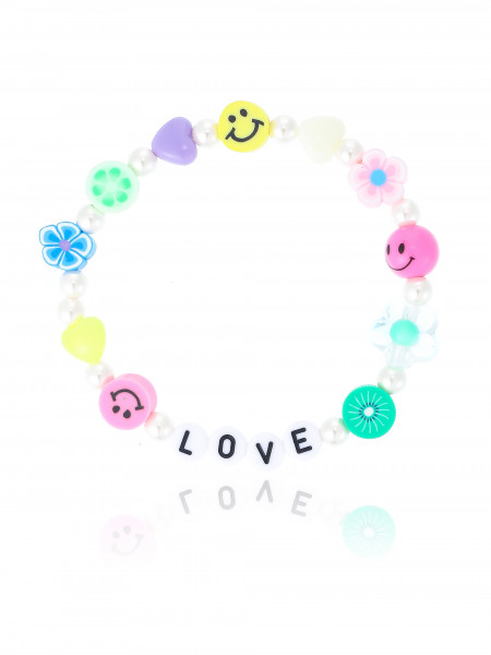 Buntes Armband Mit Love