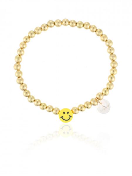 Perlenarmband Gold Mit Smily