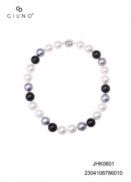Muschelkern Perlen Halskette