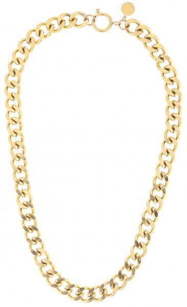 Dicke Gliederkette Aus Edelstahl In Gold